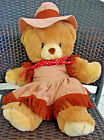 Vtg Kamar Plush Cowgirl Teddy Bear Stuffed Animal Soft Toy 19