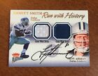 2002 FLEER RUN WITH HISTORY JERSEYS TROY AIKMAN AUTOGRAPH EMMITT SMITH #D 222