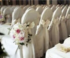 50 Polyester Banquet Chair Covers Wedding Reception Party Decorations 3 Colors