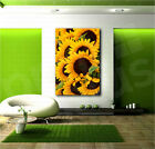 Sunflowers Sunflower Close Up Canvas Art Poster Print Wall Decor