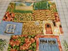 COTTON QUILT CRAFT SEWING FABRIC FALL HARVEST APPLES CORN STALKS
