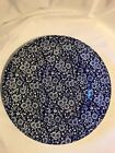 QUEEN'S Malaysia Cobalt Blue Calico Chintz Dinner Plate 10 3/4in