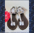 385 Fifth Ladies Gold Sequined Strappy Thong Sandals Size 6M Comfy Super Cute