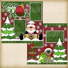 Premade Scrapbooking 2 Page Layouts HOME FOR THE HOLIDAYS christmas snow holiday