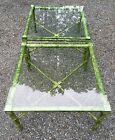 2 vtg RARE RAYMOR ITALY faux Bamboo Coffee Table Chinoiserie