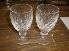 Set of 2-Waterford Crystal Signed Donegal White Wine Glasses