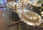 BIRMINGHAM SILVER CO.  SILVERPLATE ON COPPER DOUBLE CHAFING DISHES RARE