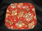 222 FIFTH GABRIELLE - RED DINNER PLATES - SET OF 4 - NEW