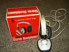 VINTAGE LAFAYETTE SP-22  OVER THE EARS HEADPHONES 8 OHM WHITE W BOX