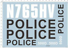 1/24 1/10 1/12 1/18 NYPD-1 911 US Police Motor Motorcycle Model kit Marine Decal