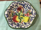 Fitz and Floyd florentine fruit 12 in majolica Serving Bowl