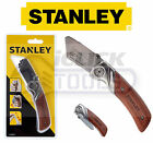 STANLEY Wooden Work Folding Trimming Pocket Utility Lock Knife 0-10-073 NO BLADE