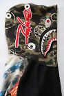 BAPE X FUTURA SHARK HOODIE Size Large Green camo RARE pink red blue candy multi