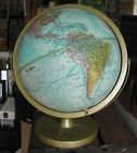 Rare VINTAGE WORLD GLOBE Replogle 12 Relief World Ocean Series nice