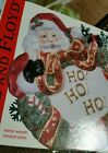 Fitz And Floyd Santa Claus Christmas Wreath Canape Appetizer Plate Candy Dish