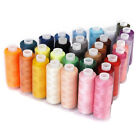 30 Spools Assorted Colors 100 Polyester Sewing Quilting Threads All Purpose