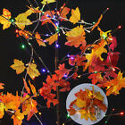 2X Fall Leaves Light String Set 10 LED Autumn Garland Home Decor for New Year