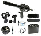 Microphone Broadcasting Accessories Kit for Canon EOS Rebel 500D T1i Kiss X3