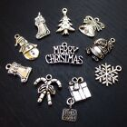 Christmas Antiqued Silver Plated Wholesale Charms Mix CM1216 10 20 Or 50PCs