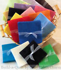 24 5 Solid FLANNEL Precut Fabric Quilt Squares 24 Color Choices FREE SHIP