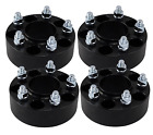 4 Black Jeep Wrangler JK Rubicon Hub Centric 2 Wheel Spacers 5x5 Studs 1 2x20