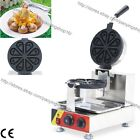 Commercial Nonstick Electric Ice Cream Rotating Waffle Maker Iron Baker Machine