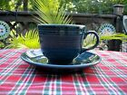 Fiesta RETIRED JUNIPER GREEN TEA CUP + SAUCER ~