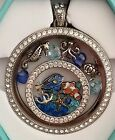 ORIGAMI OWL LEGACY LOCKET WINDOW PLATE STARDUST CRYSTALS FINDING TANG FISH CHARM