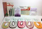 All New Paper Quilling Lot TOOLS PAPER TEMPLATE CURLER GLAZE