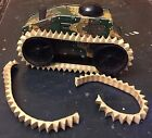 Vintage Marx Tin Wind Up Army Tank Toy #5 with Treads, For Repair, Parts
