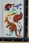 Hambly OUTBACK ANIMALS SPARKLE Stickers 1 2 Strip