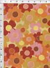 Andover Thomas Knauer Thesaurus Daisy Toss Yellow Fabric