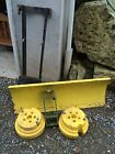 JOHN DEERE SNOW PLOW WITH WHEEL WEIGHTS FOR 240 LAWN TRACTOR