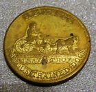 H B Wests Trained Dogs 1853 Hard Times Token Counterstamped