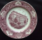 New York University Wedgwood Plate,1932, mulberry - Gould Hall, original issue