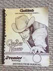 Cue Ball Wizard Manual & Schematics - Original - Gottlieb Premier pinball