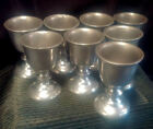 8 Lot RWP Wilton Pewter Wine Goblets ~ Armetale Plough Tavern Water Chalice Set