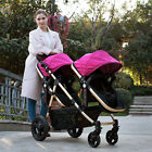 Baby Stroller Twin/Double Lightweight Stroller Travel pushchair with Second Seat