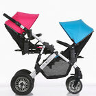 folding twin baby stroller protable double kids Removable pushchair second seat