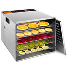 10 Tray Food Dehydrator Stainless Steel Fruit Jerky Dryer Blower Commercial New