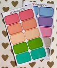 20 Half Box Planner Stickers for All Types of Planners