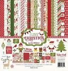 Echo Park Paper I Love CHRISTMAS 12x12 Collection Kit Elf Scrapbook Pocket Page