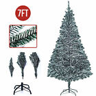 7FT Artificial Christmas Tree w Stand Snow Flocked Holiday Season Indoor Outdoor