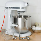KitchenAid KSM8990WH White NSF 8 Qt. Bowl Lift Commercial Countertop Mixer