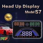 """S7 5.8"""" HeadUp Display OBD2 & GPS Windscreen Speedometer For Mercedes C200 coupe"""