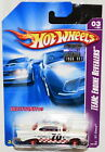 HOT WHEELS 2008 TEAM: ENGINE REVEALERS '57 CHEVY WHITE FACTORY SEALED