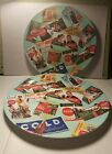 Coca-Cola/Coke Advertisements Collector Plate Melamine by Sakura.Set of 2 Plates