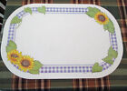 Set 4 Vintage Corelle Coordinates SUNSATIONS Reversible Vinyl Placemats!