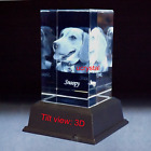 Personalized 3D laser photo crystal engraving custom photo crystal picture cube