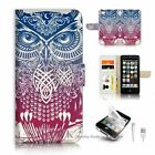 ( For iPhone 5C ) Flip Case Cover S9530 Owl